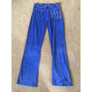 LNEW PINK VS blue velour sweat pants size small
